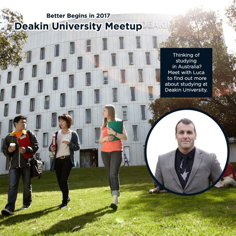 Deakin University Meetup! (Better Begins in 2017)