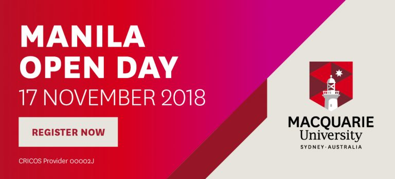 Macquarie University Manila Open Day: An Invitation