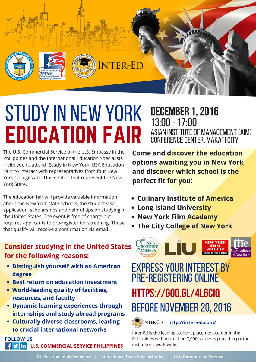 Study in New York Education Fair details