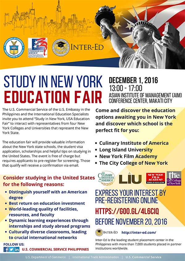 Study in New York, USA – Education Fair