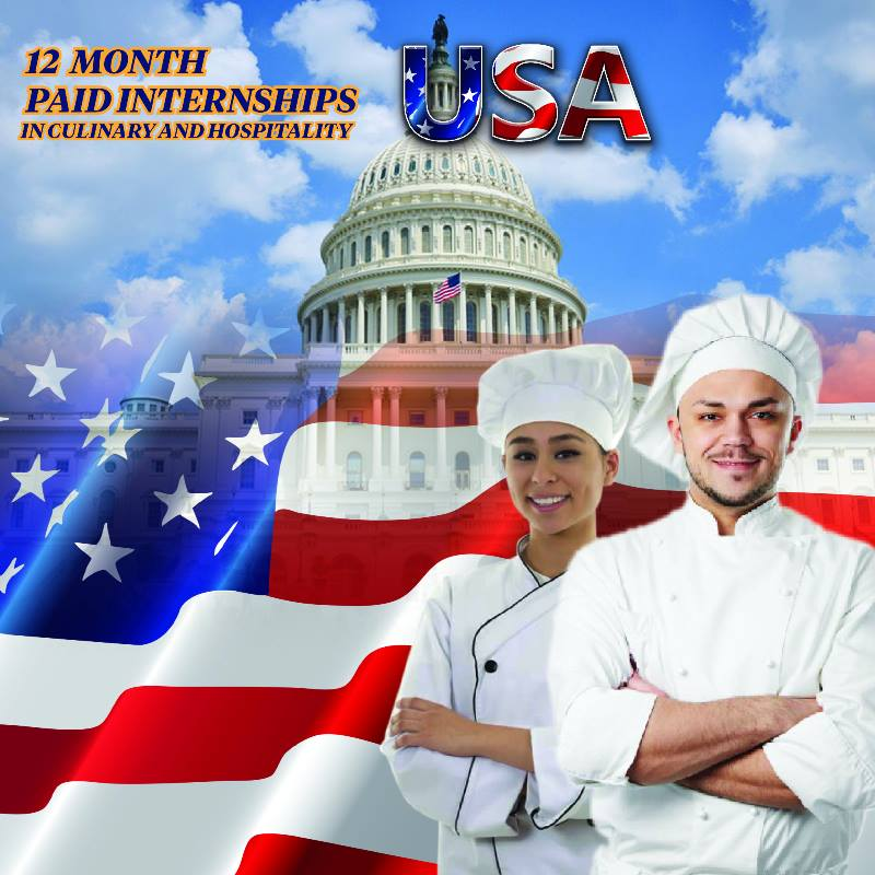 Wanted: Hospitality and Culinary Graduates for paid internship in the USA for 12 months