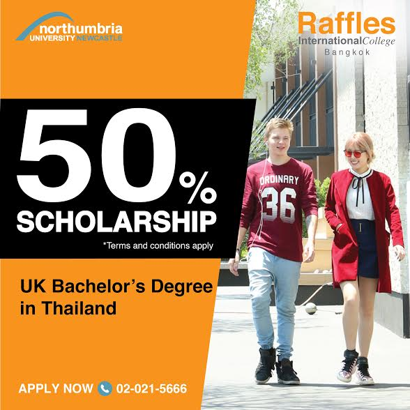 Raffles Bangkok Scholarship for July 2017 intake