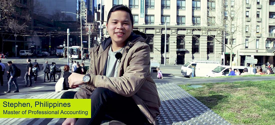 Filipino student Stephen Go in CQUniversity video
