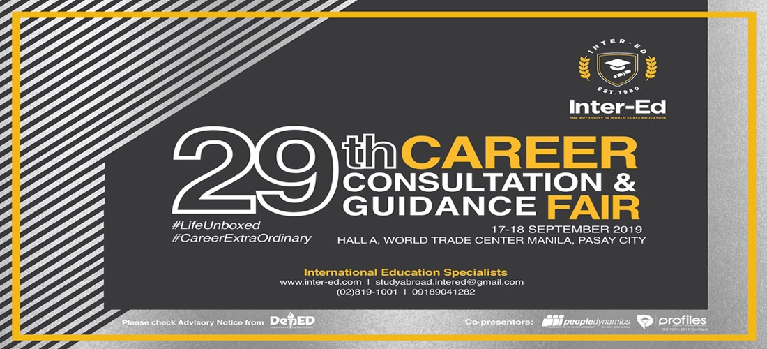 The 29th Career Consultation and Guidance Fair is set on September 17-18!